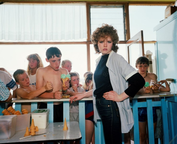 Martin Parr's photograph taken in a resort in New Brighton